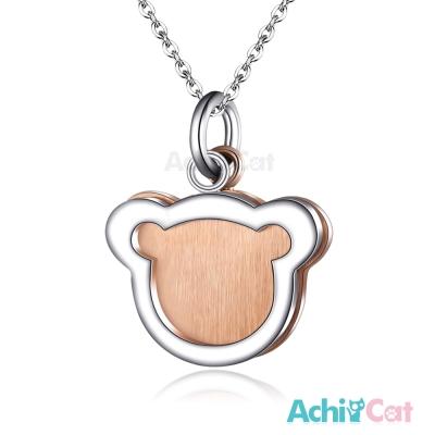 AchiCat 珠寶白鋼項鍊 純粹 小熊