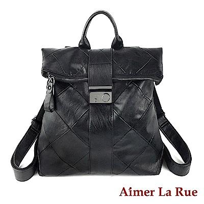 Aimer La Rue 後背包 個性鎖扣水洗系列(黑色)