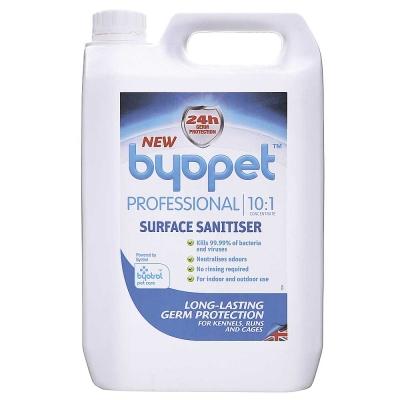 Byopet超濃縮、10:1、消毒清潔劑、5L、寵物專業適用
