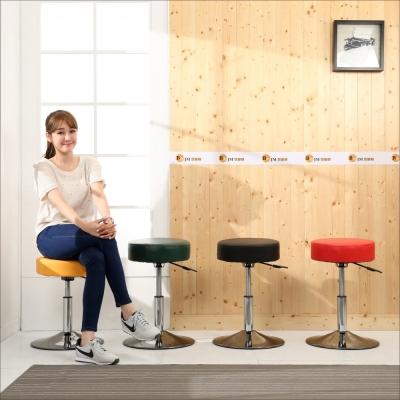 BuyJM 加厚9公分皮面圓型升降吧檯椅-免組