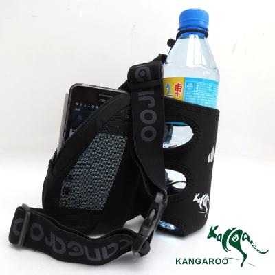 KANGAROO休閒單水壺腰包(酷線黑) K140119001 運動腰包 臀包