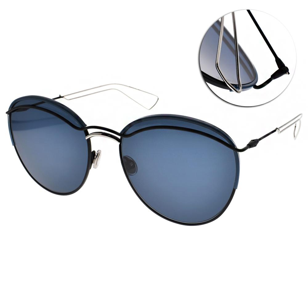 DIOR太陽眼鏡 造型圓框款/藍#ROUND 003KU