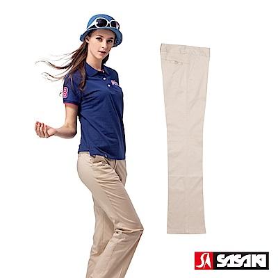 SASAKI-棉質伸縮休閒長褲-女-卡其