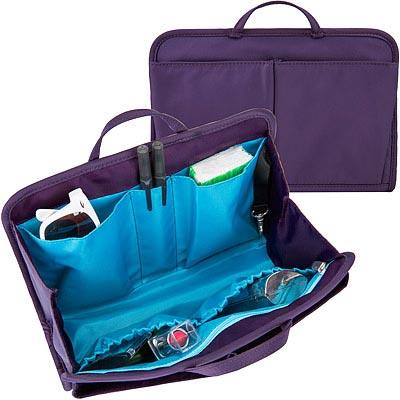 TRAVELON RFID包內安全收納包(紫L)