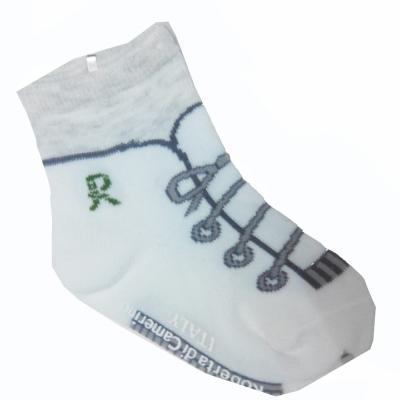 Roberta Colum 諾貝達 鞋帶螃蟹止滑刺繡童襪~6雙(隨機取色)