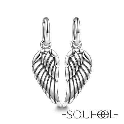 SOUFEEL索菲爾 925純銀珠飾 信仰的翅膀 吊飾