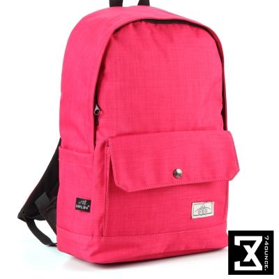 74盎司 簡約設計後背包(14吋)[K-011]桃紅