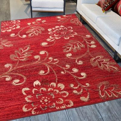 Ambience 比利時Luna 現代地毯--紅花(160x225cm)