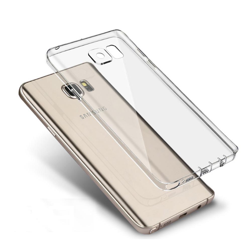 水漾 Samsung Note 5 一體全包式帶防塵塞TPU手機軟殼-透明