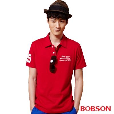 BOBSON  男款POLO上衣-紅色