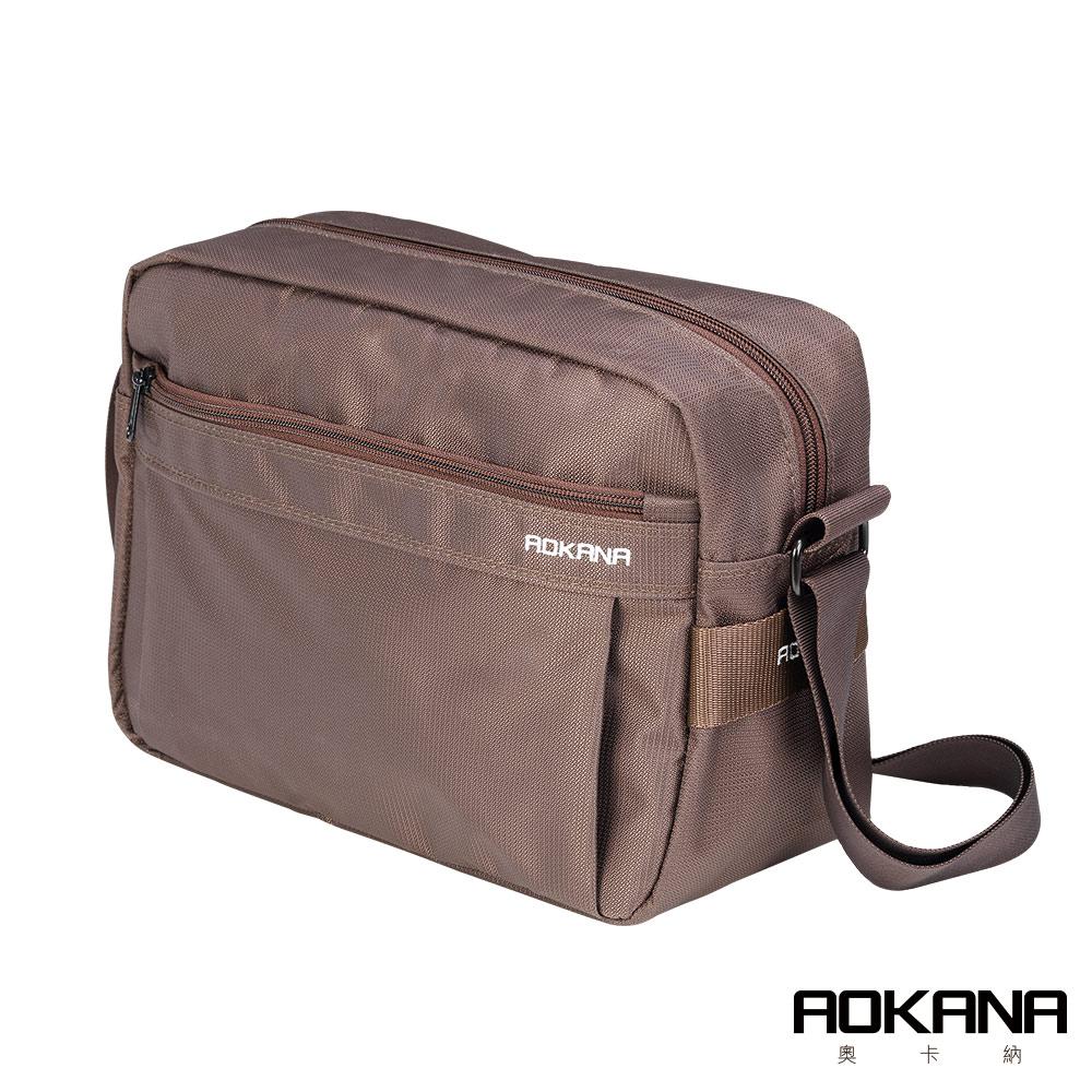 AOKANA 俐落輕巧Layers系列 可插掛拉桿設計 背包多隔層設計(咖啡)02-035