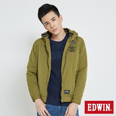EDWIN 浮羽纖立領防寒外套-男-橄欖綠