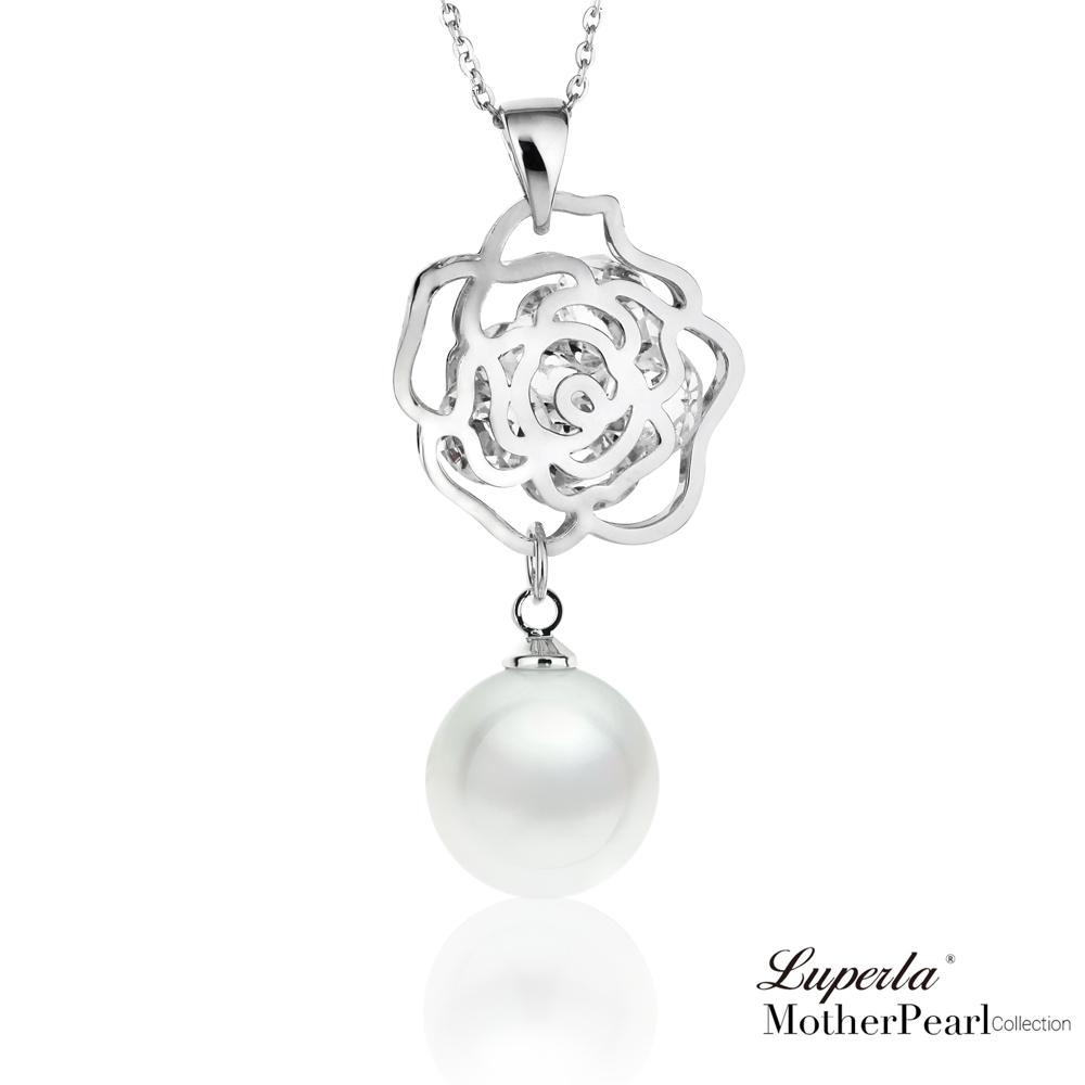 大東山珠寶 南洋貝寶珠晶鑽項鍊 璀璨玫瑰