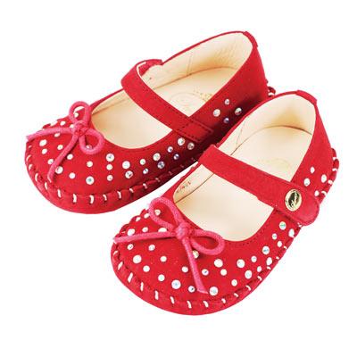 Swan天鵝童鞋- 閃耀水鑽學步鞋1495-紅