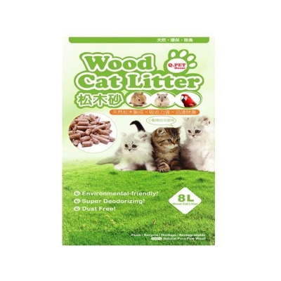 Q.PET Wood Cat Litter 松木砂 8L X 1包入