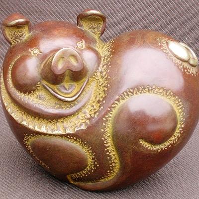 如意順心.....豬銅雕 禮品
