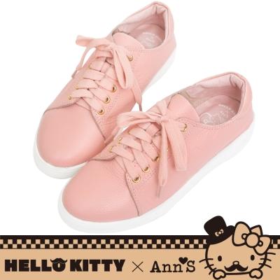HELLO KITTY X Ann'S達利2way蝴蝶結真皮休閒鞋-粉