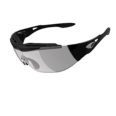 【ADHOC】運動太陽眼鏡-極速變色灰片-無框式DARKness Plus