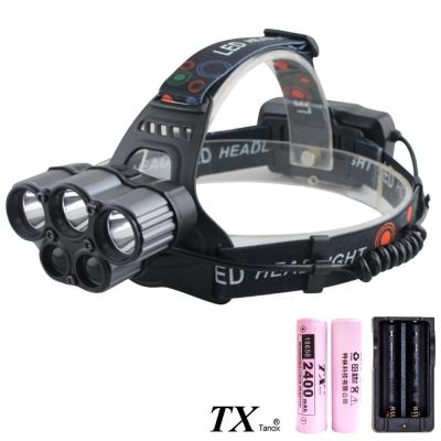 TX特林美國LED 5燈USB充電強亮頭燈(HD-A302-L2)