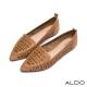 ALDO 原色真皮鞋面幾何鏤空尖頭跟鞋~氣質