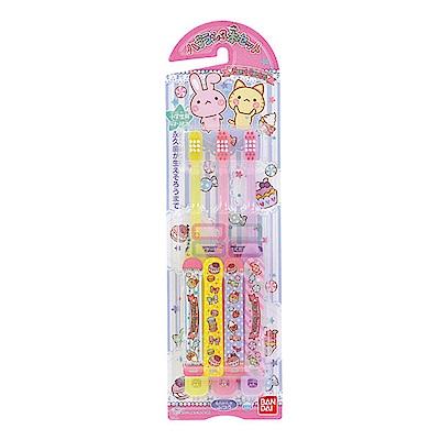 日本Bandai-日製紅心花園牙刷3入