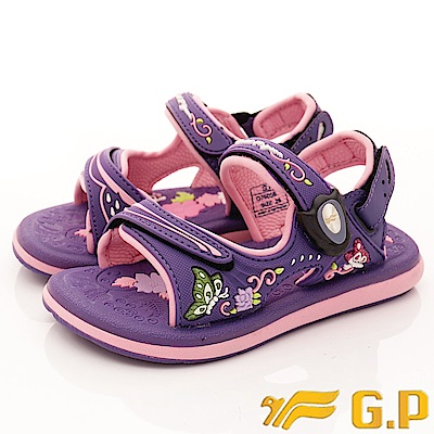 GP涼鞋 磁扣兩穿涼鞋 SE605B-41紫(中小童段)