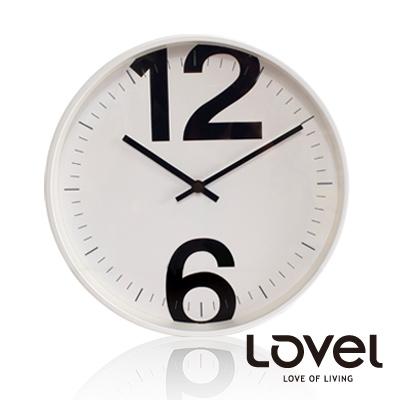 【LOVEL】時尚簡約風格鋁框壁鐘/掛鐘30cm(個性數字A)