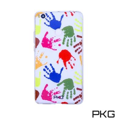 PKG 小米MAX2 彩繪空壓氣囊保護殼-浮雕彩繪-繽紛手掌