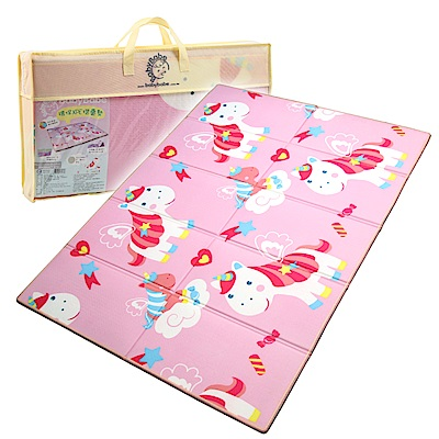 BabyBabe 環保XPE摺疊墊 粉紅獨角獸