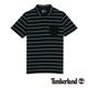 Timberland 男款藍黑色緹花條紋短袖