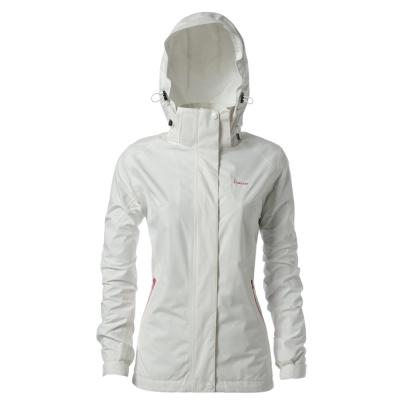 hilltop山頂鳥-女款GoreTex-抗UV單件式防水外套H22FO6-白