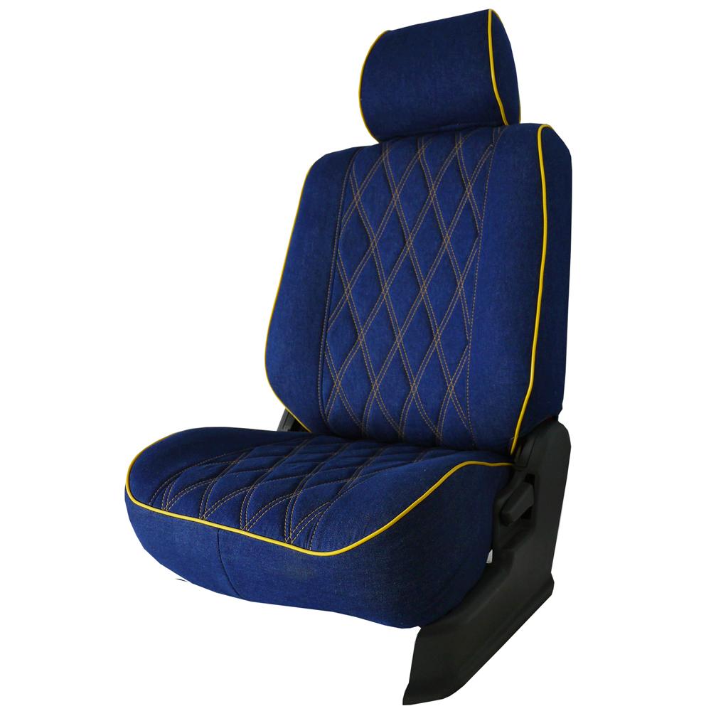 【葵花】量身訂做-汽車椅套-布料-牛仔布-休旅車-6-8人座款1+2+3排