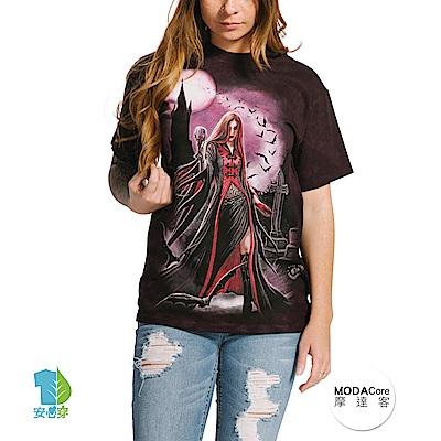 摩達客 美國進口The Mountain 萬聖血月女巫 純棉環保短袖T恤
