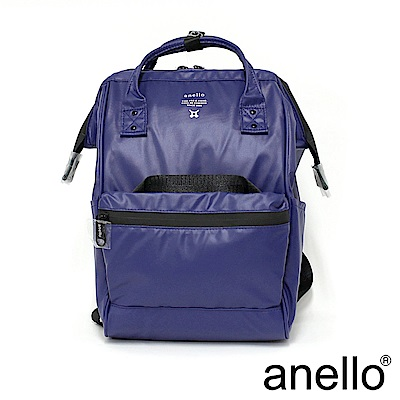 anello 霧光質感大口防水後背包 紫色 M尺寸