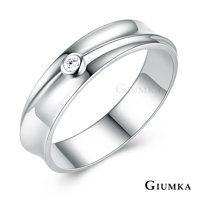 GIUMKA 925純銀情侶戒指尾戒 愛的承諾銀戒-共2款