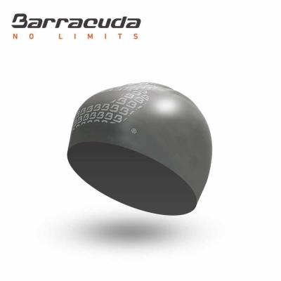 美國Barracuda巴洛酷達 成人矽膠 銀色3D 泳帽 -快速到貨
