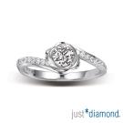Just Diamond 30分18K金鑽石戒指-玫瑰絮語