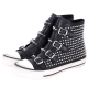 ASH VICIOUS 鉚釘釦帶高筒休閒鞋(黑色) product thumbnail 1