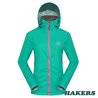 【HAKERS】 女-2.5L防水透氣外套-湖綠