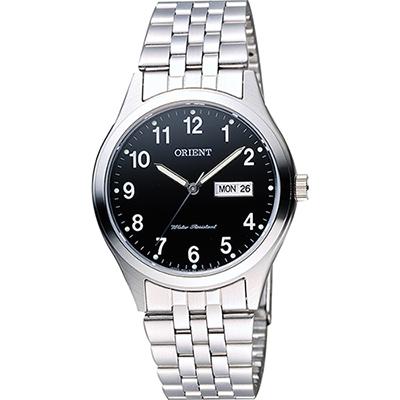 ORIENT 東方錶 數字石英腕錶-黑x銀/38mm