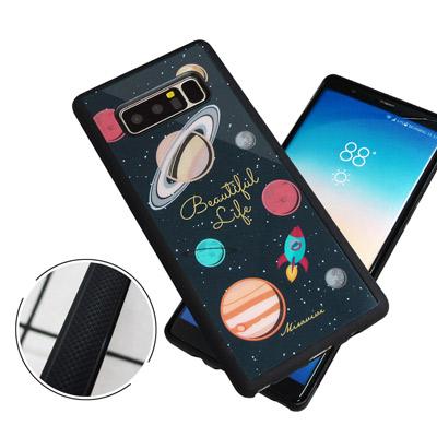 石墨黑系列 Samsung Galaxy Note 8 高質感側邊防滑手機殼(宇宙火箭)