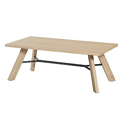 品家居 法凱羅4尺木紋大茶几(三色可選)-120x60x45cm免組