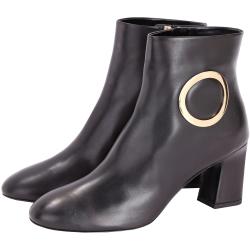 Roger Vivier Chunky Anneau 金屬環設計踝靴(黑色)