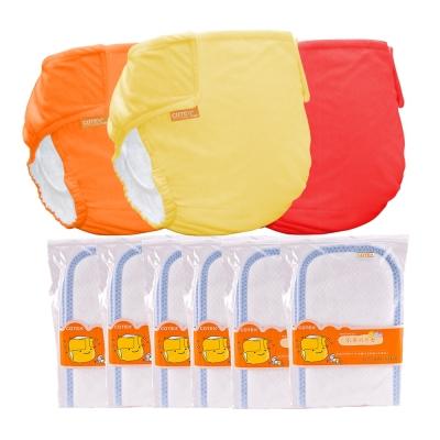 COTEX可透舒-環保布尿布 日間半日入門組  3 件外兜  6 片日用型吸尿墊