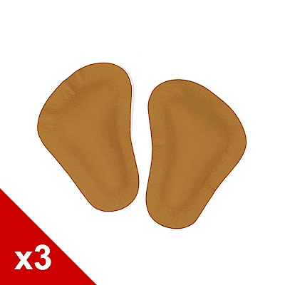 糊塗鞋匠 優質鞋材 D34 乳膠足弓前掌墊-3雙