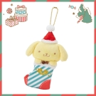 Sanrio SANRIO明星聖誕小鎮系列聖誕襪造型玩偶吊鍊(布丁狗)