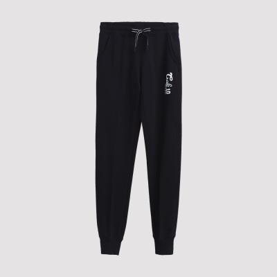 Hang Ten - 女裝 - 運動潮流素面束口棉褲 - 黑