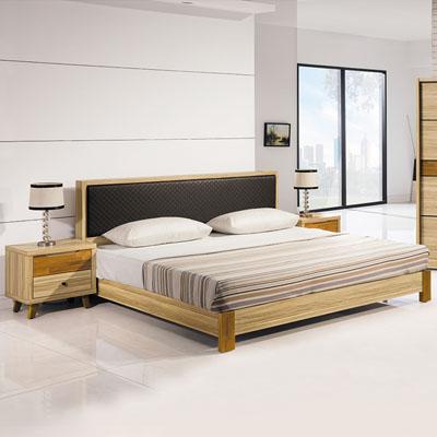 時尚屋 瑪莎栓木色6尺床片式床台