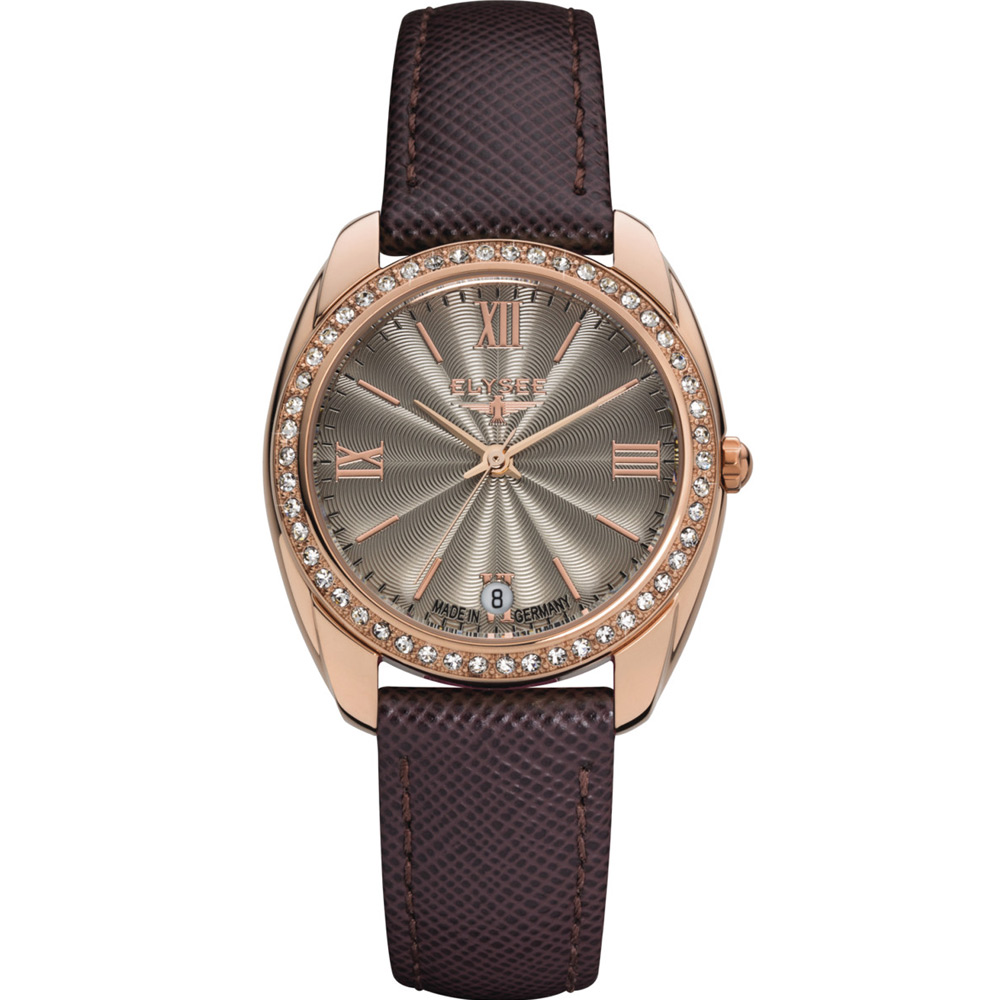 ELYSEE Diana 永恆時尚腕錶-咖啡/32mm