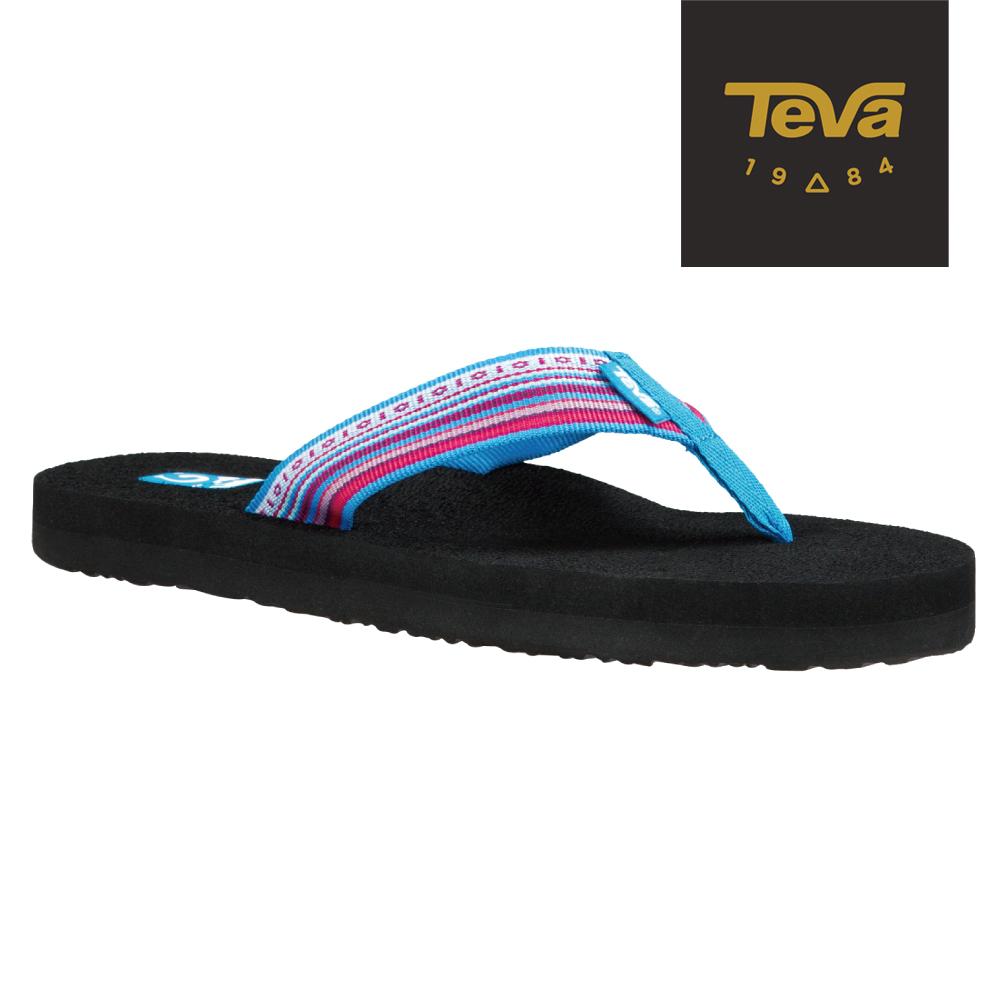 TEVA 美國-女 Mush II 經典織帶夾腳拖鞋 (民族藍)